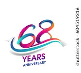 sixty eight years anniversary... | Shutterstock .eps vector #604519316