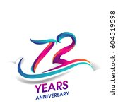 seventy two years anniversary... | Shutterstock .eps vector #604519598