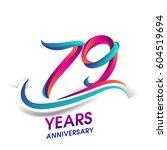 seventy nine years anniversary... | Shutterstock .eps vector #604519694