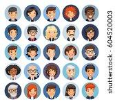 set of 25 flat business round... | Shutterstock .eps vector #604520003