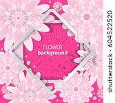 spring congratulatory floral... | Shutterstock .eps vector #604522520