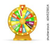 wheel fortune isolated on white ... | Shutterstock .eps vector #604525814