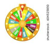 wheel game isolated on white...   Shutterstock .eps vector #604525850