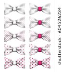 white bow tie with pink dots... | Shutterstock .eps vector #604526234