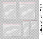 plastic bag set isolated on... | Shutterstock .eps vector #604526474