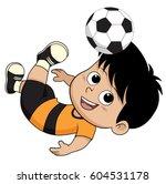 cartoon soccer kid.vector and...   Shutterstock .eps vector #604531178