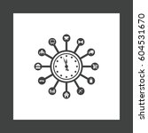 time management icon vector... | Shutterstock .eps vector #604531670