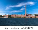 Vaasa University in old factory building - stock photo