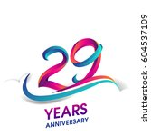 twenty nine years anniversary... | Shutterstock .eps vector #604537109