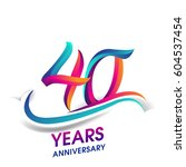 forty years anniversary... | Shutterstock .eps vector #604537454