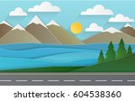 spring landscape of forests ... | Shutterstock .eps vector #604538360