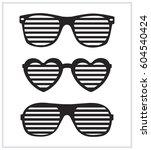 set of sunglasses background...