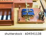 Small photo of The world's first electromagnetic telegraph of the russian scientist P.L. Shilling, 1832