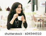 attractive 30 years old woman... | Shutterstock . vector #604544510