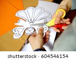 children at a lesson of... | Shutterstock . vector #604546154