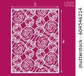 die cut ornamental panel with... | Shutterstock .eps vector #604546214
