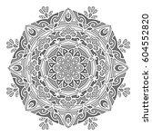 mandala. vector ethnic oriental ... | Shutterstock .eps vector #604552820