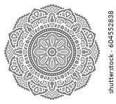 mandala. vector ethnic oriental ... | Shutterstock .eps vector #604552838