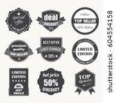 set of flat design sale... | Shutterstock .eps vector #604554158