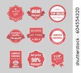 set of flat design sale... | Shutterstock .eps vector #604554320