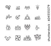 business and people icons set... | Shutterstock .eps vector #604555379