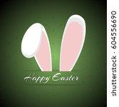 white easter rabbit. easter... | Shutterstock .eps vector #604556690