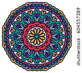 mandala. vector ethnic oriental ... | Shutterstock .eps vector #604557389