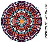 mandala. vector ethnic oriental ... | Shutterstock .eps vector #604557440