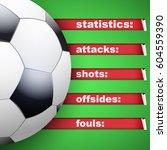 background of football soccer... | Shutterstock .eps vector #604559390