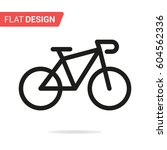 bicycle line icon. vector | Shutterstock .eps vector #604562336