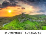 ruins of the corfe castle at... | Shutterstock . vector #604562768