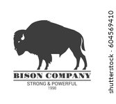"""""""bison company"""" logo template.... 