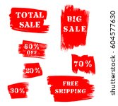 set of grunge sale banners with ... | Shutterstock .eps vector #604577630