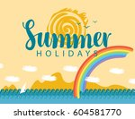 travel banner with the... | Shutterstock .eps vector #604581770