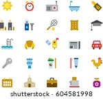 miscellaneous morning related... | Shutterstock .eps vector #604581998