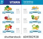 set of vitamins a. b. c. d. e.... | Shutterstock .eps vector #604582928