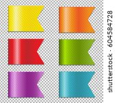 web ribbons collection with... | Shutterstock .eps vector #604584728