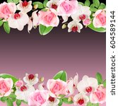 beautiful floral pattern of...   Shutterstock . vector #604589144