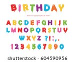 balloon colorful font. funny... | Shutterstock .eps vector #604590956