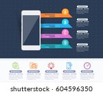 smart phone concept colorful... | Shutterstock .eps vector #604596350