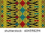 seamless abstract ethnic  ...   Shutterstock . vector #604598294
