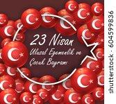 republic of turkey flag...   Shutterstock .eps vector #604599836