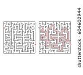 labyrinth  maze   vector... | Shutterstock .eps vector #604602944