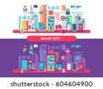 smart city concept   Shutterstock .eps vector #604604900