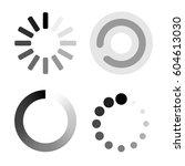 set loading icons. white... | Shutterstock .eps vector #604613030