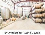 blurred image modern beer plant ... | Shutterstock . vector #604621286