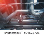 ventilation pipes and ducts of... | Shutterstock . vector #604623728