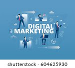 business metaphor of modern...   Shutterstock .eps vector #604625930