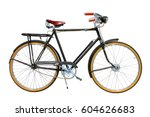 Ride Bicycle Isolated On White...