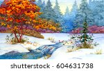 colorful bright hand drawn... | Shutterstock . vector #604631738